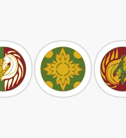 The Shields of Rohan Set Sticker