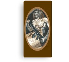 Mermaid with Rifle Canvas Print