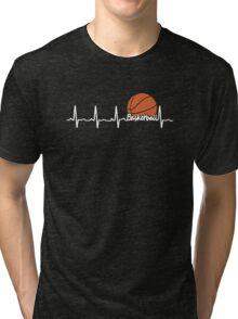 BASKETBALL HEARTBEAT Tri-blend T-Shirt