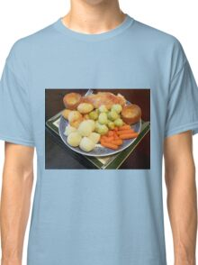 Roast Chicken with Vegetables Classic T-Shirt