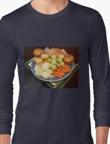 Roast Chicken with Vegetables Long Sleeve T-Shirt