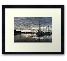 Soft Sky with Two Birds Framed Print