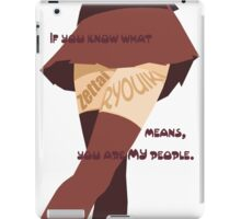 My people - zettai ryouiki iPad Case/Skin