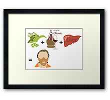 Quotes and quips - fava beans, chianti and liver Framed Print