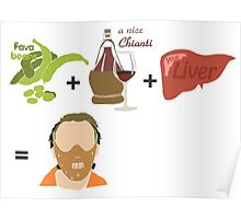 Quotes and quips - fava beans, chianti and liver Poster