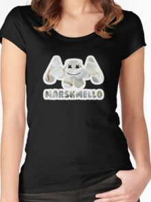 Marshmellow design with stroke Women's Fitted Scoop T-Shirt