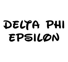 Delta Phi Epsilon - Disney Photographic Print