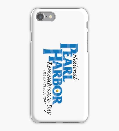 Pearl Harbor Remembrance Day Logo iPhone Case/Skin