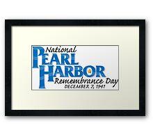 Pearl Harbor Remembrance Day Logo Framed Print
