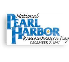 Pearl Harbor Remembrance Day Logo Metal Print