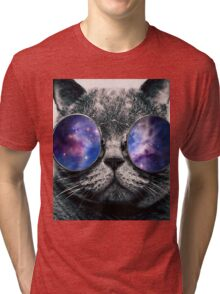 Chill Cat Tri-blend T-Shirt