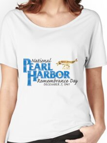 Pearl Harbor Remembrance Day 75th Anniversary Logo Women's Relaxed Fit T-Shirt