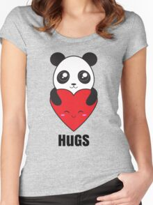 Panda Hugs Women's Fitted Scoop T-Shirt
