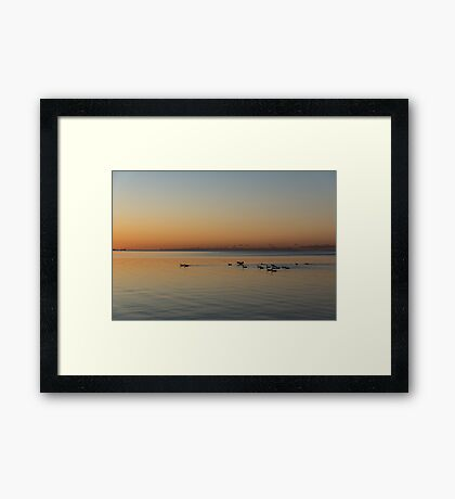 It was a Quiet Velvety Morning... Framed Print