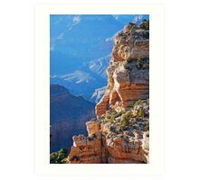 Grand canyon cliff Art Print