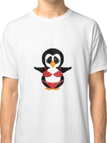 Beach Penguin in Floral Swimsuit Classic T-Shirt
