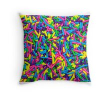 Colorful candy sprinkles Throw Pillow