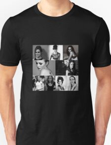 Leighton Meester black and white T-Shirt