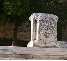 Faces on the Wall, Zadar, Croatia (panorama) by Margaret  Hyde