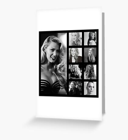 Blake Lively black and white Greeting Card
