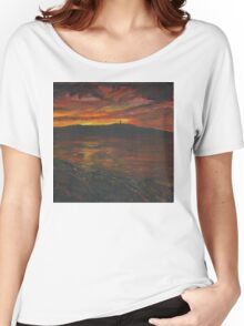 Sunset Over Scrabo Tower Women's Relaxed Fit T-Shirt