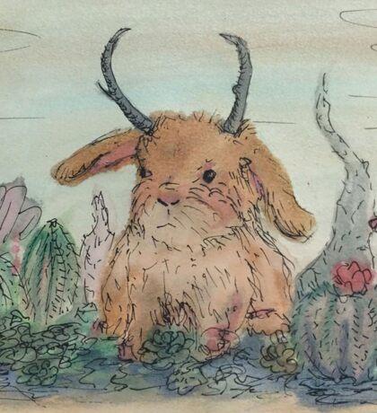 Succulent Jack Bunny Sticker
