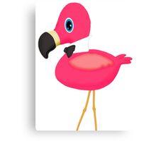 Pink Flamingo Bow Tie Canvas Print