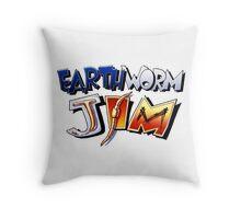 Earthworm Jim Logo Throw Pillow