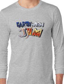 Earthworm Jim Logo Long Sleeve T-Shirt