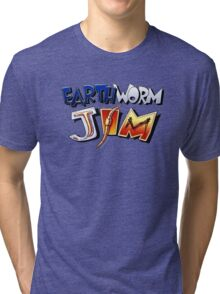 Earthworm Jim Logo Tri-blend T-Shirt