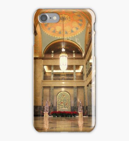 Fisher Building's Three Story Lobby and Mosiac Wall iPhone Case/Skin