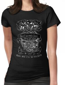 Lotus Flower - Inverted  Womens Fitted T-Shirt