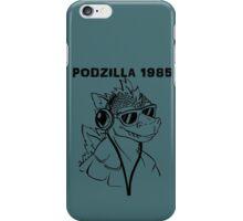 Podzilla 1985 Retro  iPhone Case/Skin