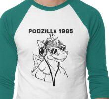 Podzilla 1985 Retro  Men's Baseball ¾ T-Shirt