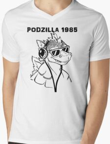 Podzilla 1985 Retro  Mens V-Neck T-Shirt
