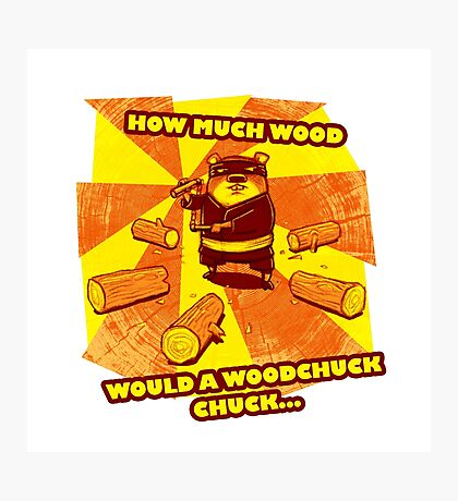 How Much Wood Would a Woodchuck Chuck Photographic Print