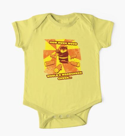 How Much Wood Would a Woodchuck Chuck One Piece - Short Sleeve