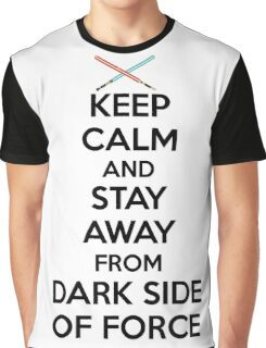 Keep Calm Dark Side Graphic T-Shirt
