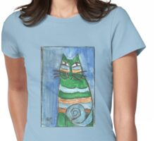 Abstract Cat Womens Fitted T-Shirt