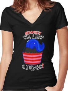 Respect The Floof, Cupcake! Women's Fitted V-Neck T-Shirt