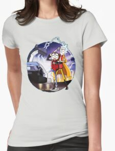 Doctor Rick and Morty Womens Fitted T-Shirt