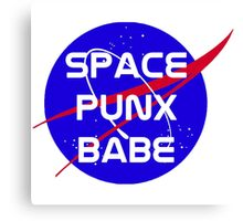 Space Punx Babe Canvas Print