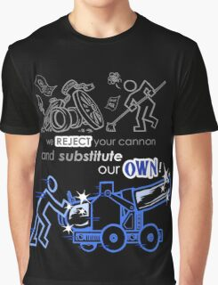We Reject Your Cannon (Blue Version) Graphic T-Shirt