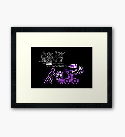 We Reject Your Cannon (Purple Version) Framed Print