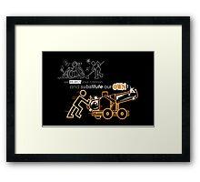 We Reject Your Cannon (Orange Version) Framed Print