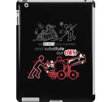 We Reject Your Cannon (Red Version) iPad Case/Skin