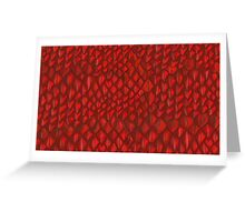 Game of Thrones - Red Dragon Scales Greeting Card