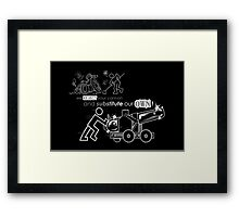We Reject Your Cannon (Black/White Version) Framed Print