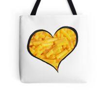 Mac N Cheese Heart Tote Bag