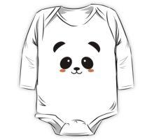 Cute Panda Face One Piece - Long Sleeve